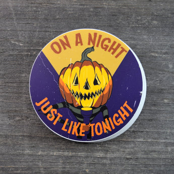 SALE On A Night Just Like Tonight Vinyl Sticker