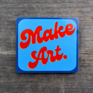 Make Art. Groovy Text Vinyl Sticker