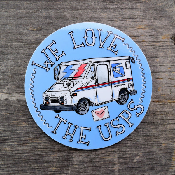 We Love The USPS Vinyl Sticker