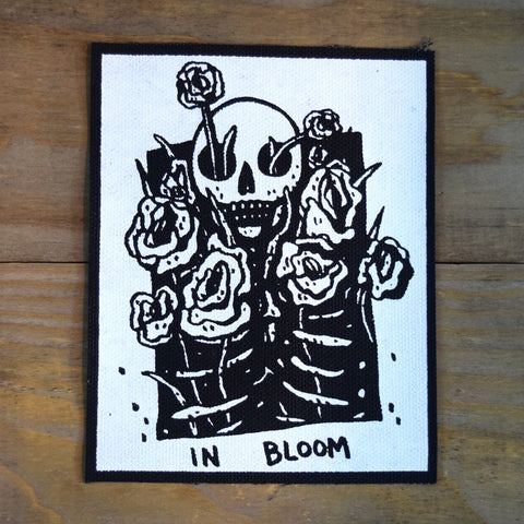 In Bloom Black Canvas Patch