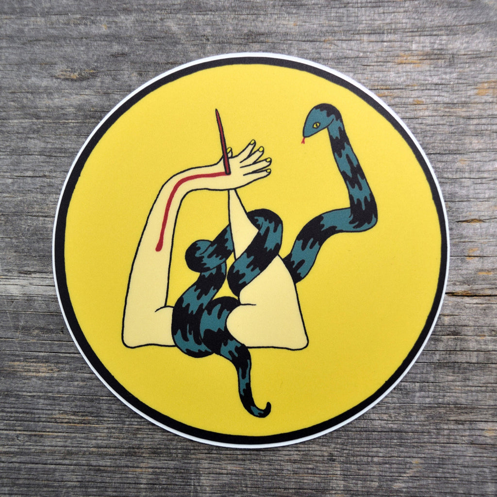 Snake Arm Vinyl Sticker