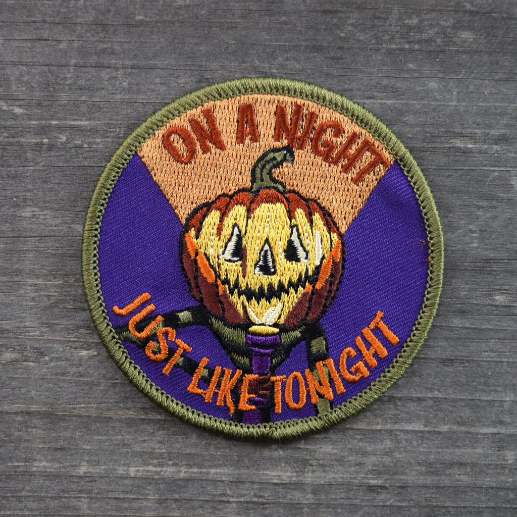 SALE Scared Out of Your Gourd Embroidered Patch