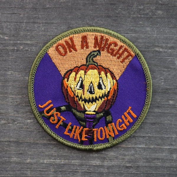Scared Out of Your Gourd Embroidered Patch