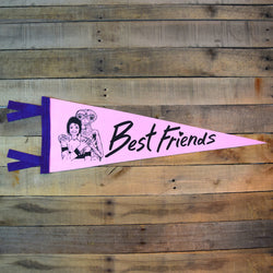 E.T & M.J. Best Friends Pennant on Pink Felt