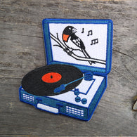 Songbird Record Player Embroidered Patch