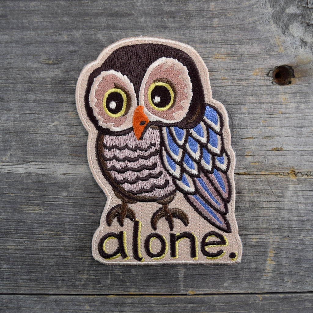 SALE Alone Owl Embroidered Patch