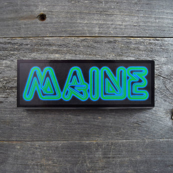 SALE MAINE Neon Sign Vinyl Sticker