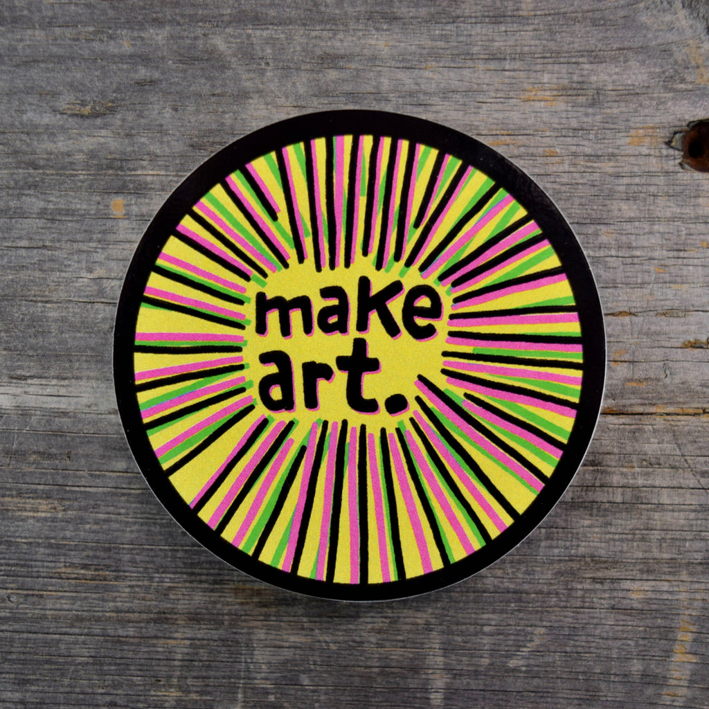 Make Art. Vinyl Sticker