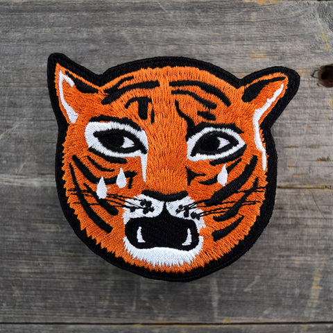 Crying Tiger Embroidered Patch