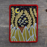 Plants and Eyes Embroidered Patch
