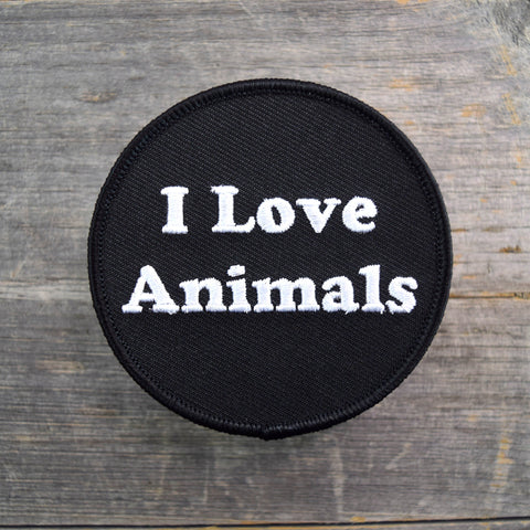 I Love Animals Embroidered Patch