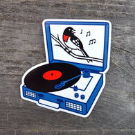 Songbird Record Player Vinyl Sticker