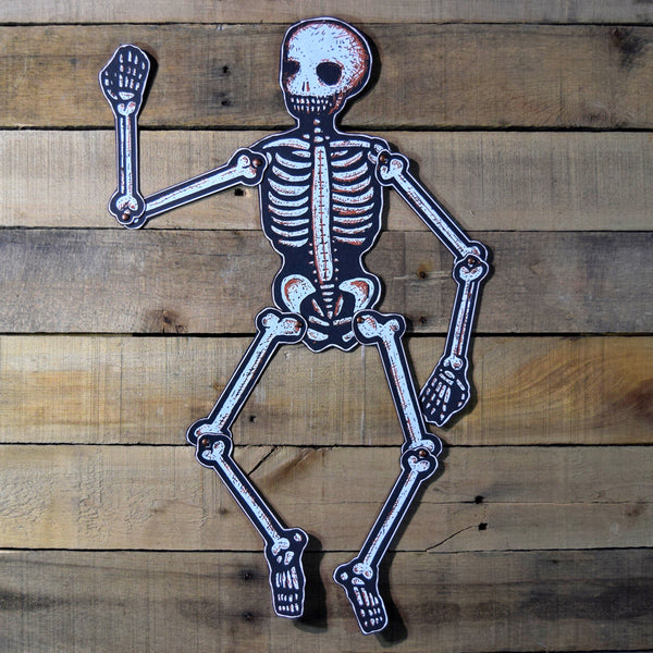 Dancing Jointed Skeleton ORANGE