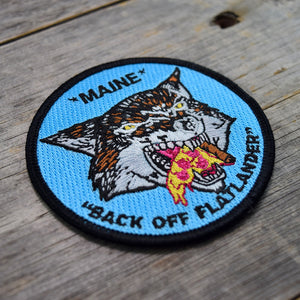Maine Pizza Wolf Embroidered Patch