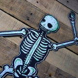 Dancing Jointed Skeleton GREEN
