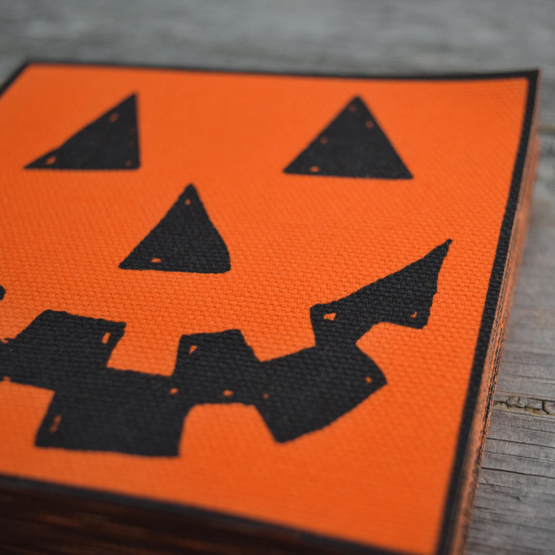 SALE Jack-O-Lantern Canvas Patch