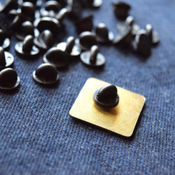 Rubber Pin Backers (Set of 5) Black