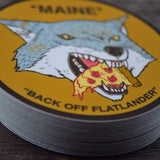 Maine Pizza Wolf Vinyl Sticker