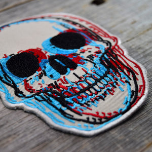 3D Skull Embroidered Patch