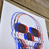 3D Skull 8-8in Screen Print