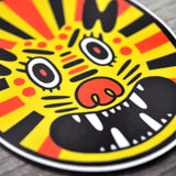 Lion Face Vinyl Sticker