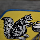 Drumming Squirrel Embroidered Patch