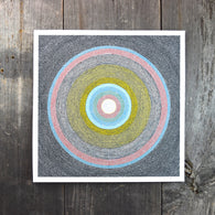 Circular Dots Two 8-8in Giclee Print