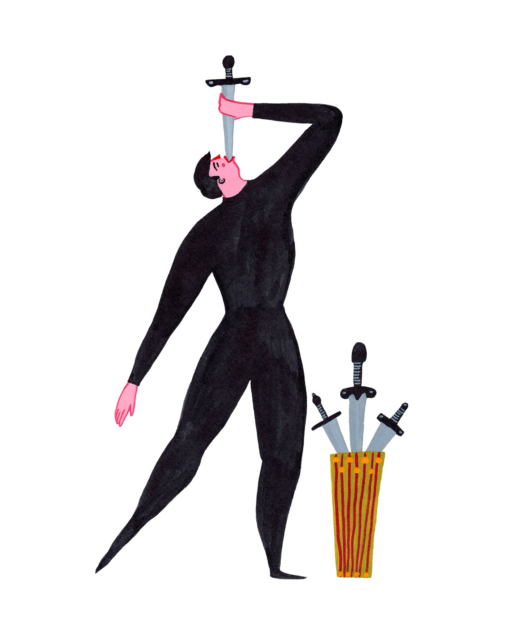Sword Swallower 8-10in Giclee Print