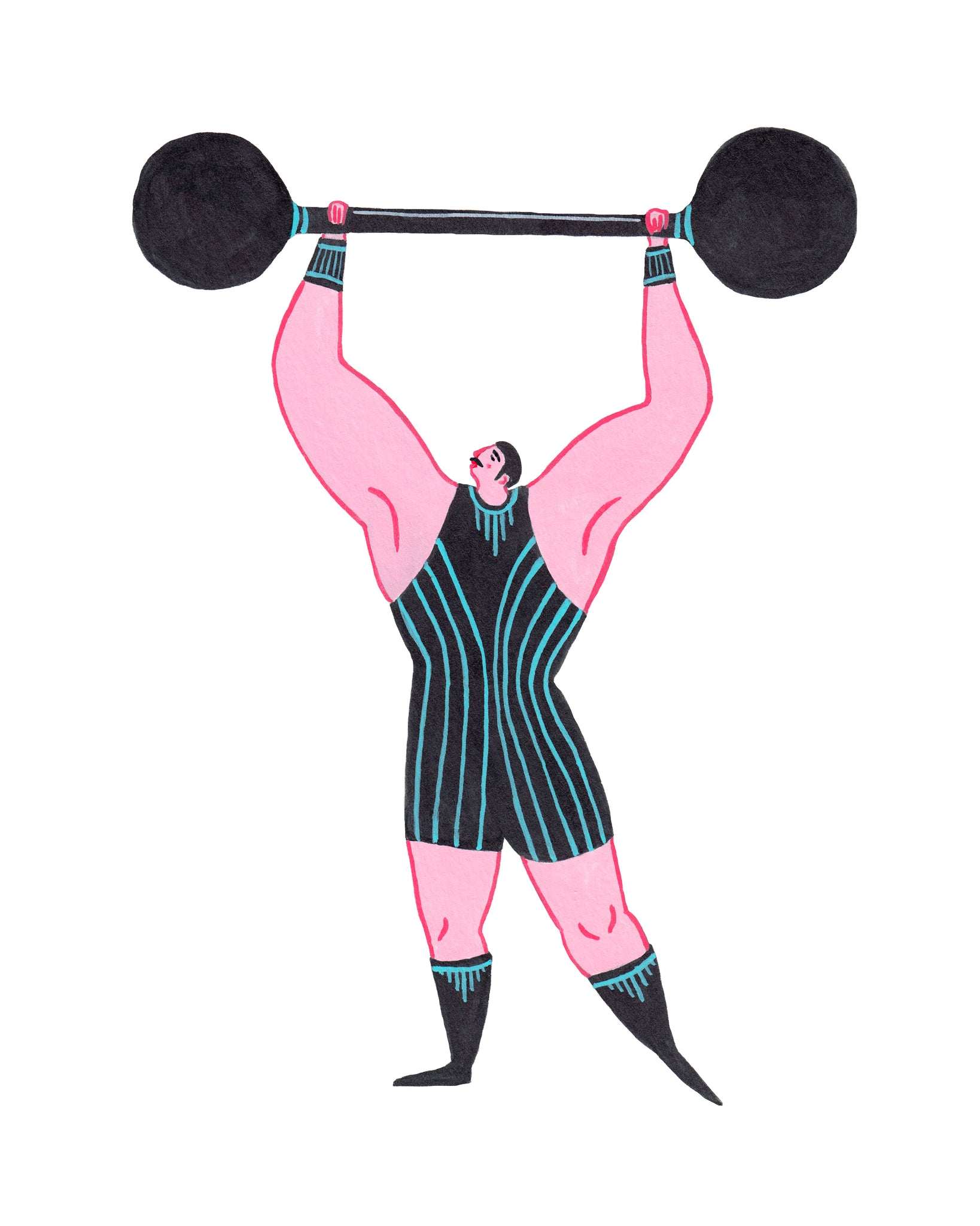 Strongman 8-10in Giclee Print