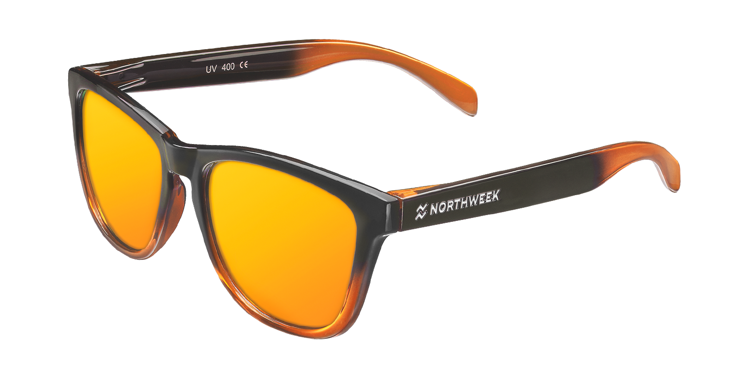 GRADIANT SHINE BLACK & ORANGE - ORANGE POLARIZED