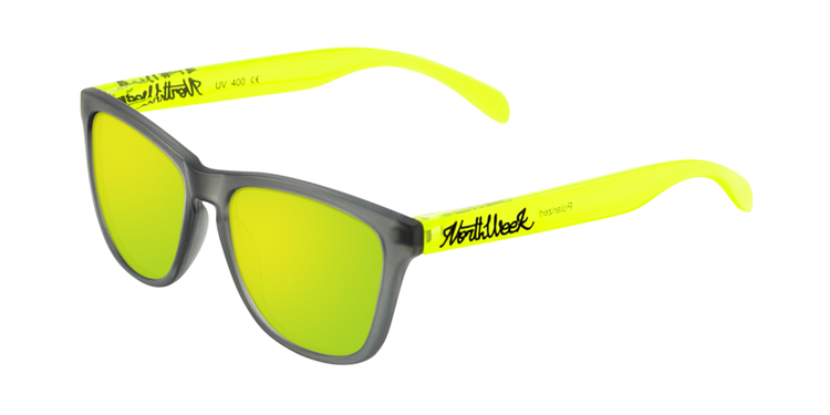 SMOKY GREY & BRIGHT YELLOW - GOLD POLARIZED