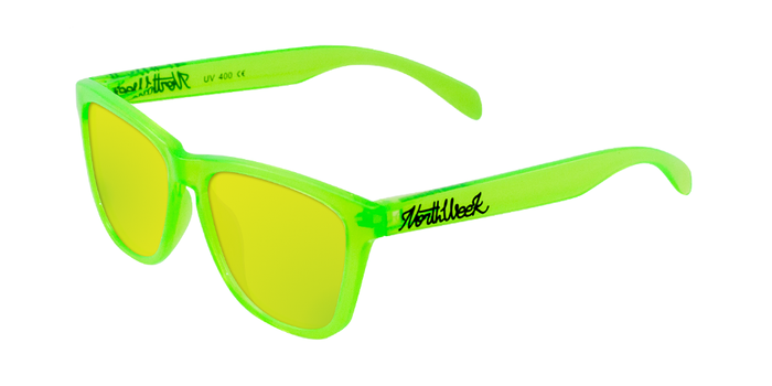 Lentes de sol polarizados Bright Green-Gold