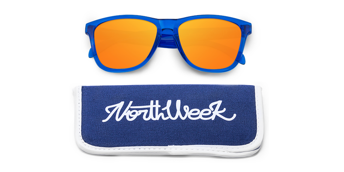 Lentes de sol polarizados Bright Blue-Orange Polarized con funda