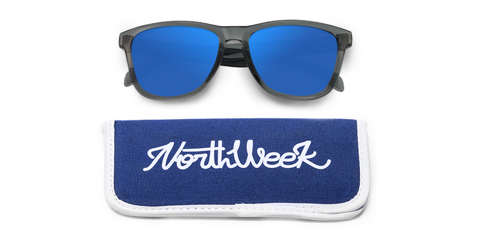 Lentes de sol polarizados Bright Grey-Blue Polarized con funda
