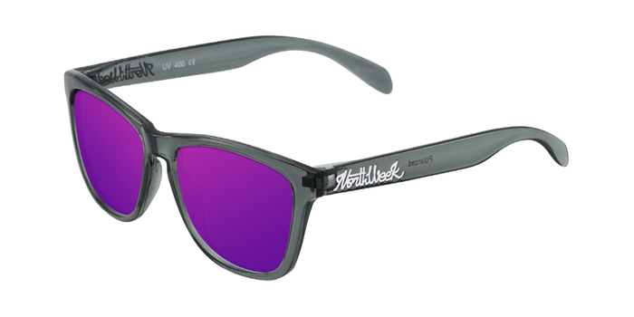 Lentes de sol polarizados Bright Grey - Purple Polarized