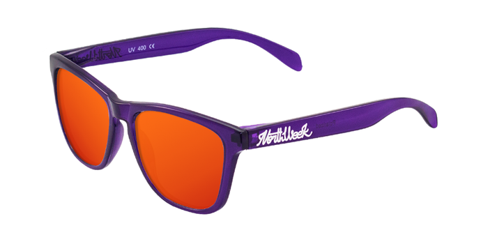 Lentes de sol polarizados Bright Purple - Red Polarized