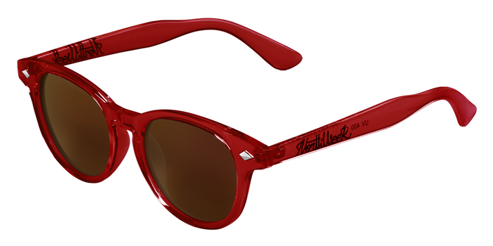 Lentes de sol polarizados Circle Dark Bright Red - Ambar Polarized