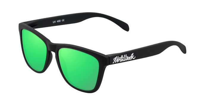 Lentes de sol polarizados Matte Black - Green Polarized