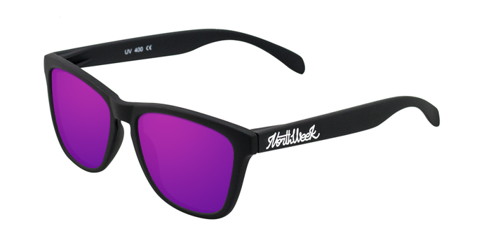 Lentes de sol polarizados Matte Black- Purple Polarized