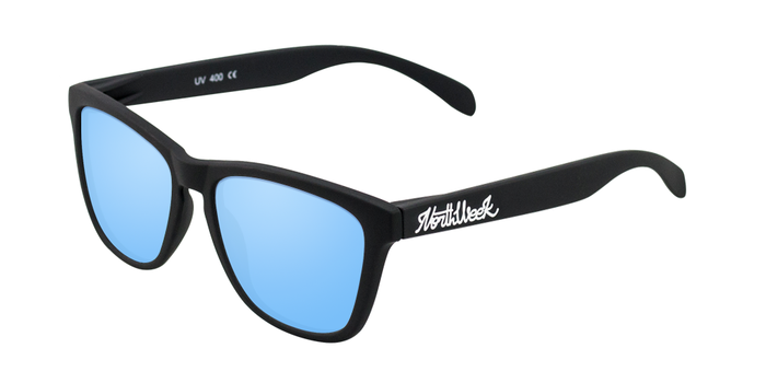 Lentes de sol polarizados Matte Black-Ice Blue Polarized