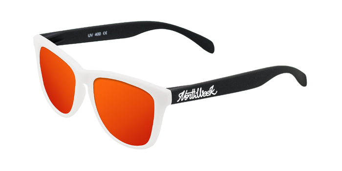 Lentes de sol polarizados Matte White & Matte Black - Red Polarized