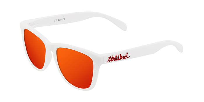 Lentes de sol polarizados MATTE WHITE - RED POLARIZED