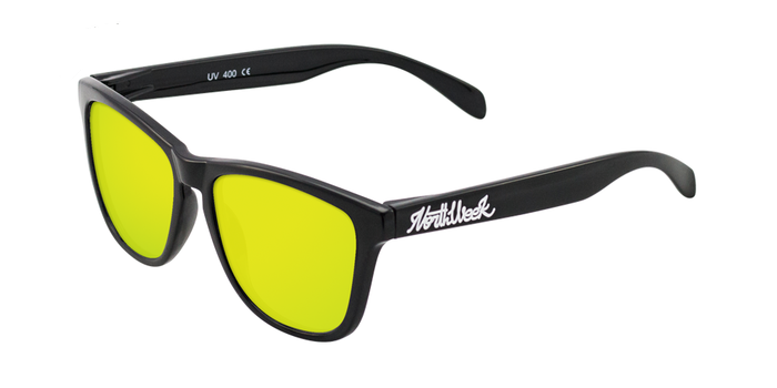 Lentes de sol polarizados Shine Black - Gold Polarized