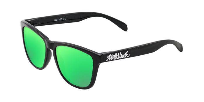 Lentes de sol polarizados Shine Black - Green Polarized