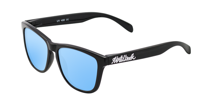 Lentes de sol polarizados Shine Black- Ice Blue Polarized