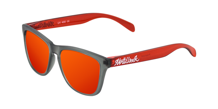 Lentes de sol polarizados Smoky Grey & Bright Red - Red Polarized