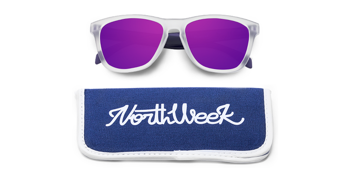 Lentes de sol polarizados Smoky White & Smoky Purple - Purple Polarized con funda