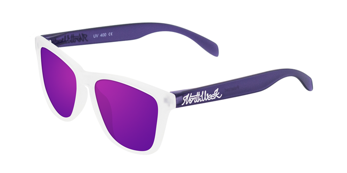 Lentes de sol polarizados Smoky White & Smoky Purple - Purple Polarized