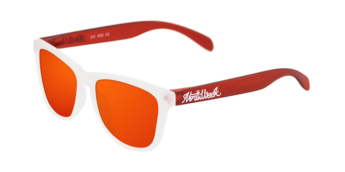 Lentes de sol polarizados Smoky White & Smoky Red - Red Polarized