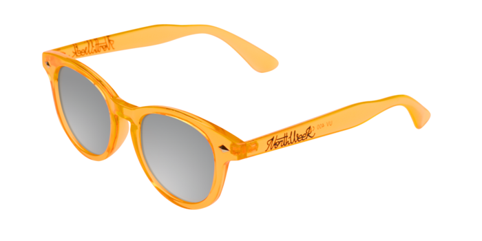 Lentes de sol polarizados Circle Orange - Silver Polarized